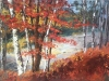 Flowing into Autumn 30x48 - textured oil painting