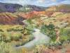 "Desert Oasis 18""x24""- textured oil painting"