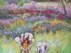 """Flowing into Spring 24""""x12""""- textured oil painting"""
