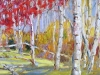 """Marching into Autumn II - 12""""x24""""- textured oil painting"""