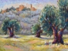 """Olive Grove, Tuscany - 10"""" x 20"""" - textured oil on canvas"""
