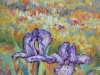 """Rooted Together 12""""x24""""- textured oil painting"""