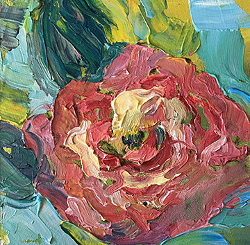 abstract floral, contemporary impressionist, daily painting, dallas texas artist, floral art, Niki Gulley paintings, rose painting,