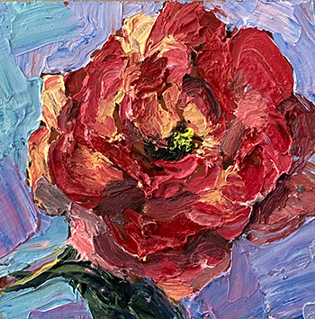abstract floral, contemporary impressionist, daily painting, dallas texas artist, floral art, Niki Gulley paintings, rose painting, bluebonnet painting, Texas wildflowers