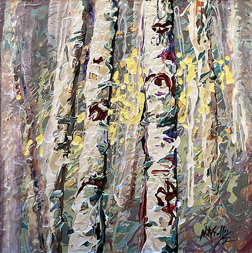 contemporary impressionist, daily painting, dallas texas artist, seasonal art, Niki Gulley paintings, Aspen painting