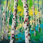 contemporary impressionist, daily painting, dallas texas artist, seasonal art, Niki Gulley paintings, Aspen painting